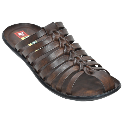 Kolapuri Centre Brown Sandals