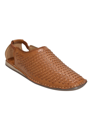 Kolapuri Centre Tan Sandals