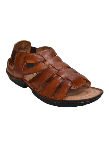 Kolapuri Centre Tan Leather Sandals
