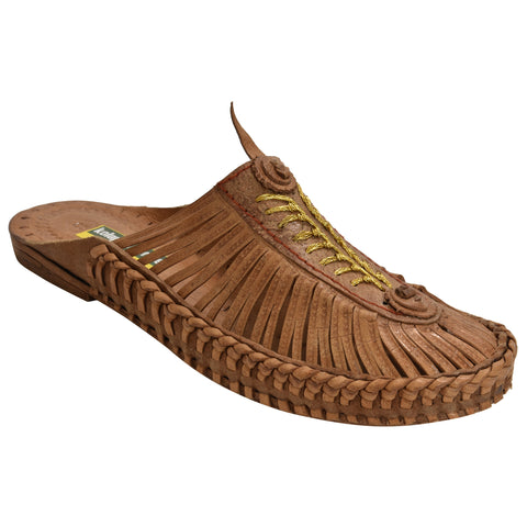 Kolapuri Centre Tan Colored Covered Sandals