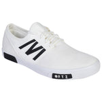 Kolapuri Centre White Canvas Shoes