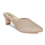 Kolapuri Centre Women's Gold Heels