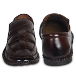 Kolapuri Centre Brown Leather Sandals