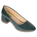 Kolapuri Centre Womens Block Heeled Ballerinas