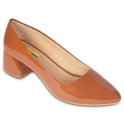 Kolapuri Centre Womens Tan Colored Blocks
