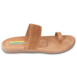 Kolapuri Centre Womens Tan Colored Flats