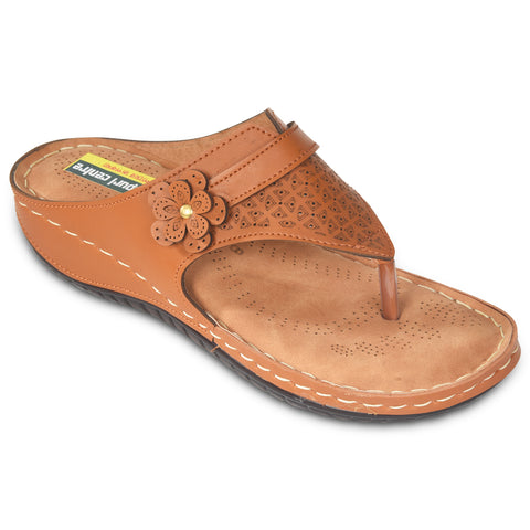 Kolapuri Centre Womens Tan Soft Cushioned Flats