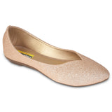 Kolapuri Centre Womens Peach Ballerinas