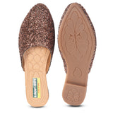 Kolapuri Centre Womens Copper Partywear Flats