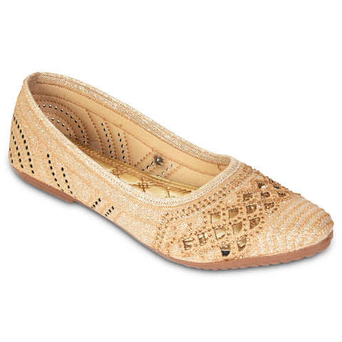 Kolapuri Centre Womens Copper Partywear Ballerinas
