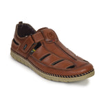 Kolapuri Centre Men's Brown Soft Cushioned Sole