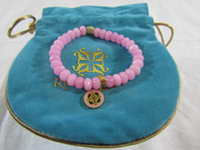 RUSTIC CUFF Jenni Pink Beaded Bracelet with Gold Accents - NEW