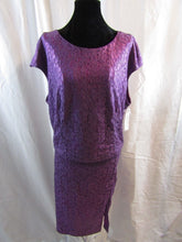 BISOU BISOU Womens Purple Skirt (Size 14) and Top (XL) Set NWT