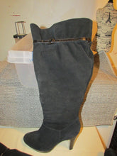 NINE & COMPANY - Black Knee High Suede Boots - Size 7M (Pre-Owned)
