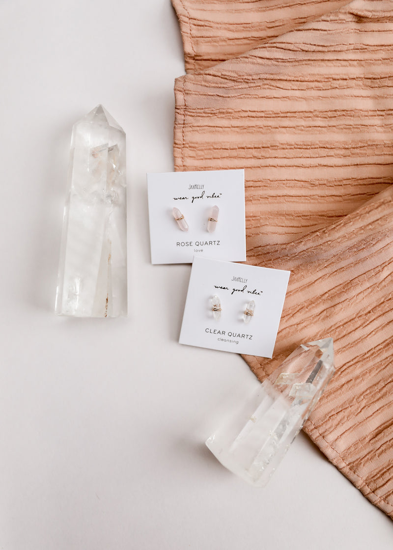 Clear Quartz Mineral Point - Cleansing