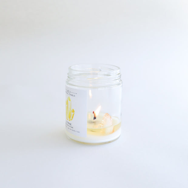 Citrine Crystal Candle - Success 1