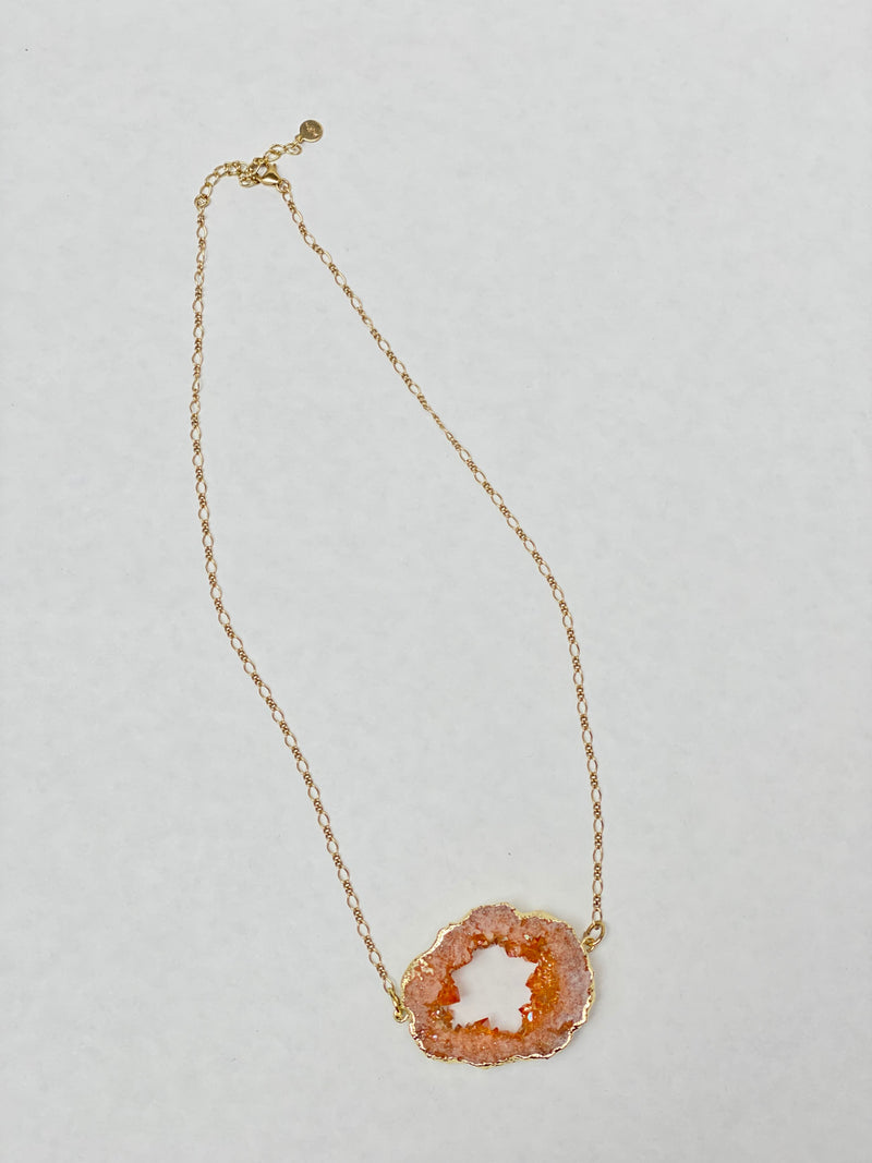 Amber Druzy Necklace