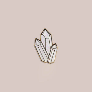 Crystal Enamel Pin