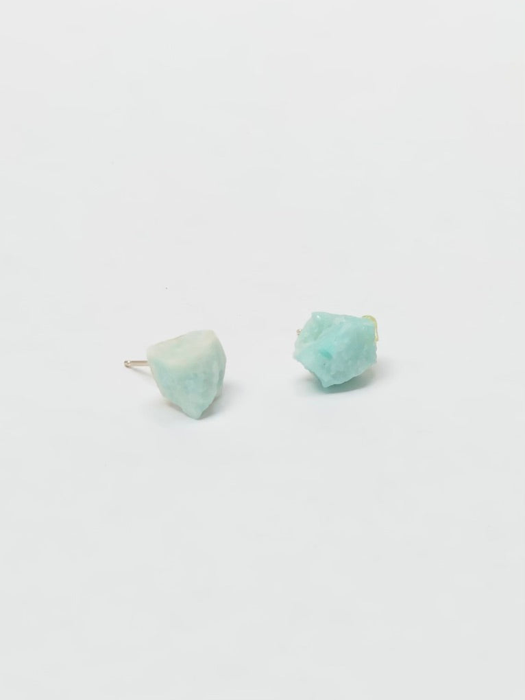 Raw Cut Amazonite Earrings