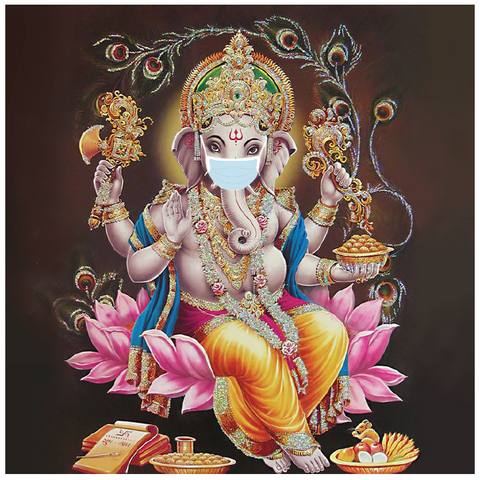 Ganesh with mask