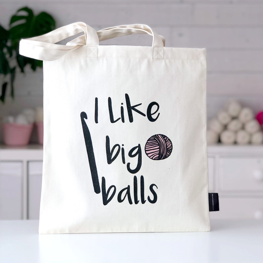'I Like Big Balls' Crochet Bag | Kelly Connor Designs