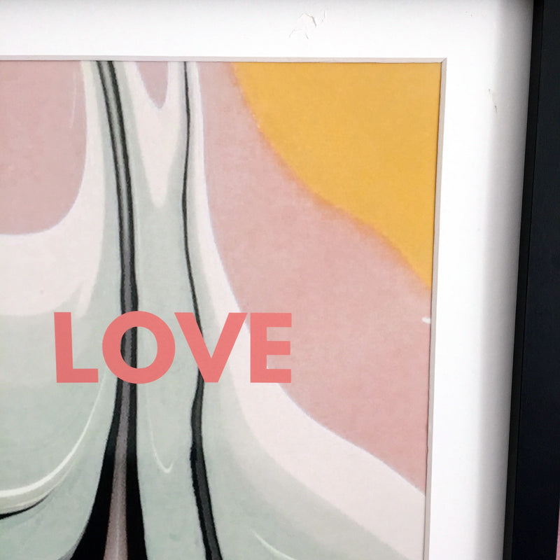 'Love' Abstract Paint Print | Kelly Connor Designs