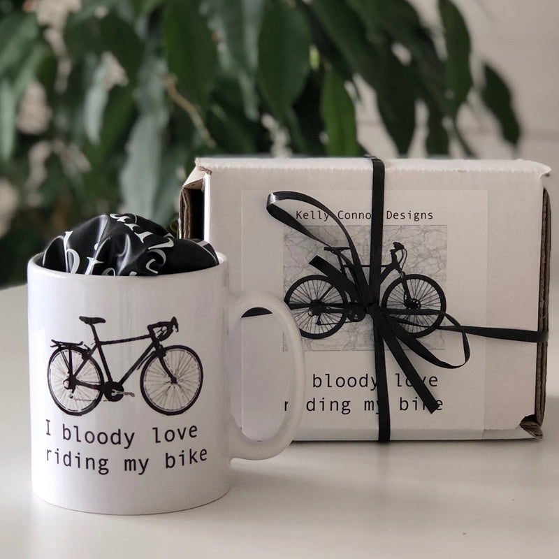 Cyclist Christmas Gift set. Bike Riding Christmas cyclists set.