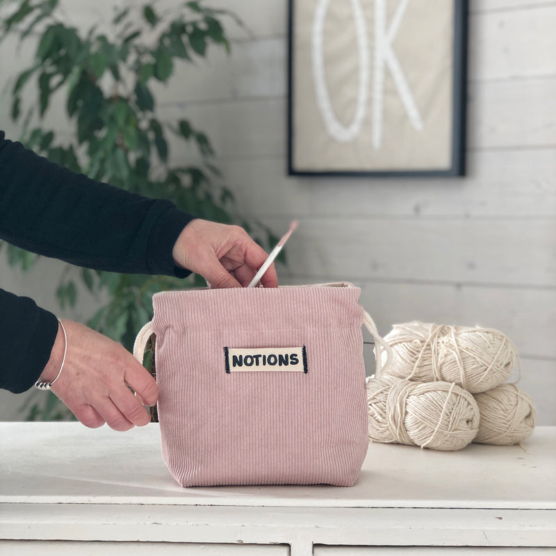 Notions Bag Mini Knitting or Crochet Small Tool Bag | Kelly Connor Designs