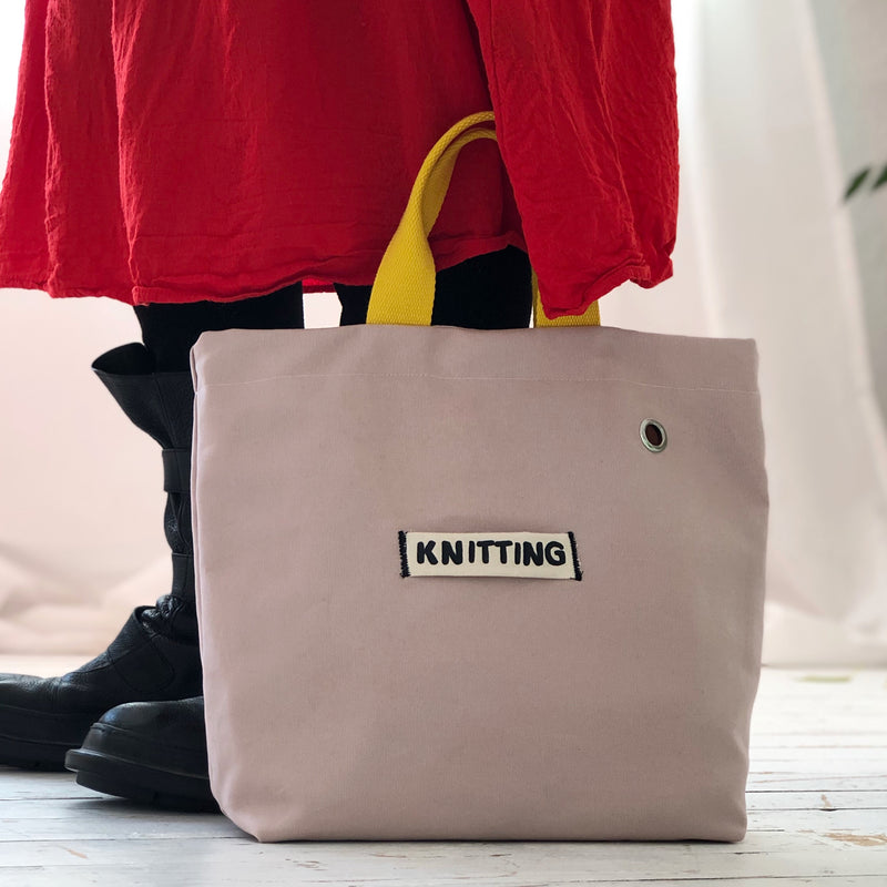 Knit on the go | Out and about Knitting Bag | Knitting Project Bag | Kelly Connor Designs