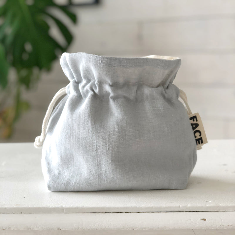 Linen Makeup Bag Toiletry bag