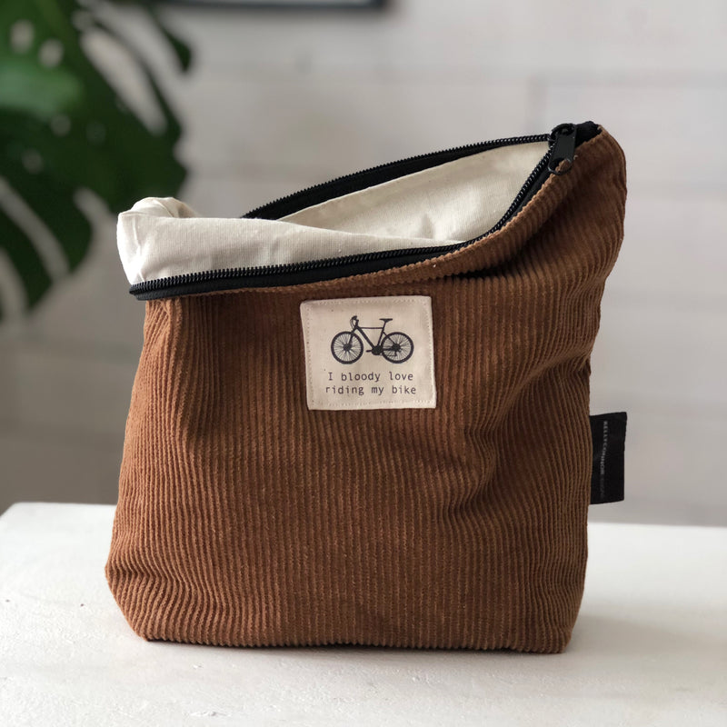 Men's Wash Bag in Brown Corduroy | Shaving Bag | Toiletry Bag