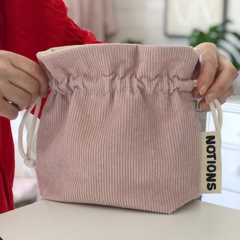 Corduroy Knitting and Crochet Notions Bag