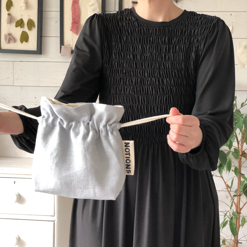 Linen Knitting and Crochet Notions Bag