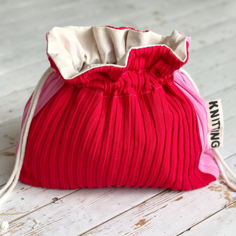 Sample Sale | Upcycled Knitting bag | Slow Fashion | Knitting Project Bag