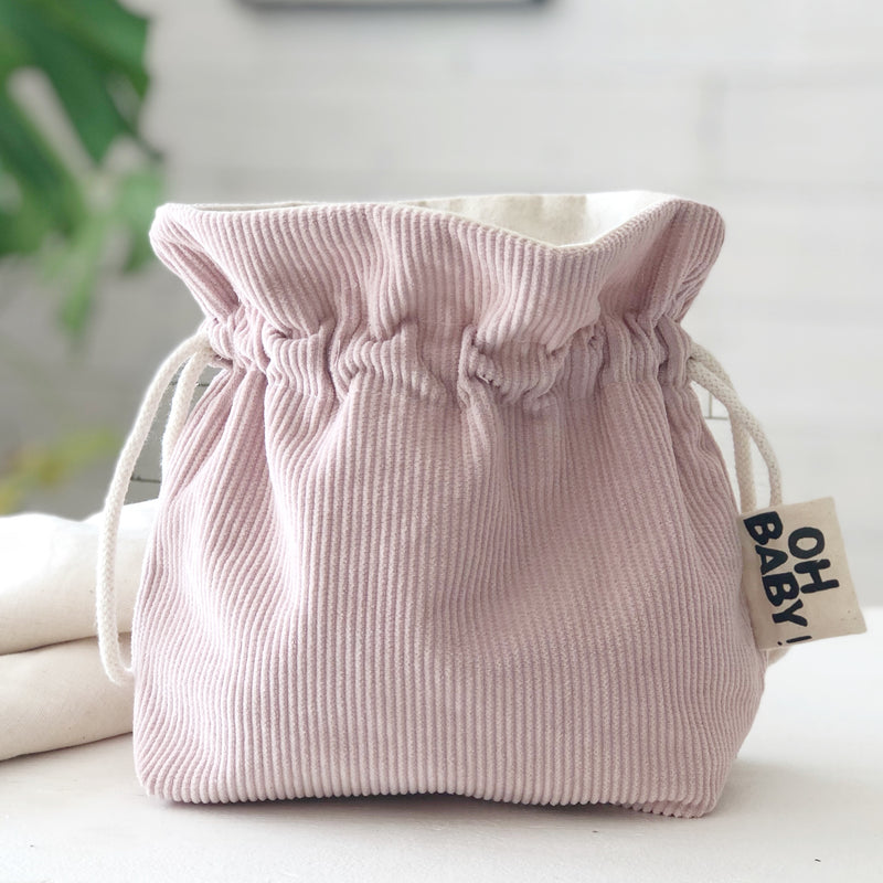 Pink Corduroy Newborn Baby Gift Stylish Nursery Decor Baby Bag