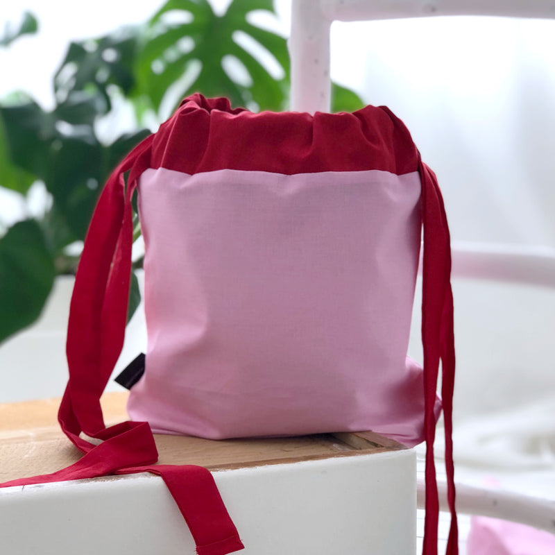 Pink and Red Multiway Knitting Bag