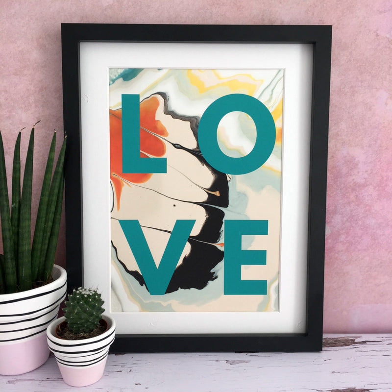 'Love' Abstract Print | Kelly Connor Designs