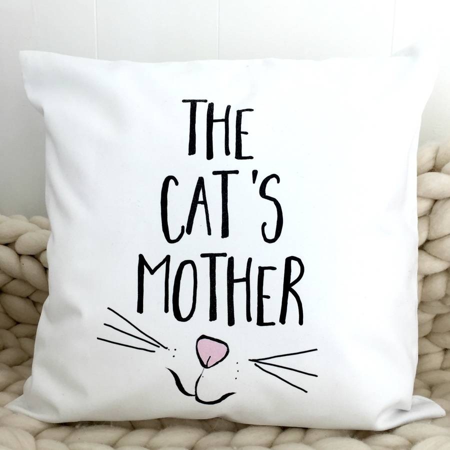 'The Cat's Mother' Cat Cushion Cover | Kelly Connor Designs