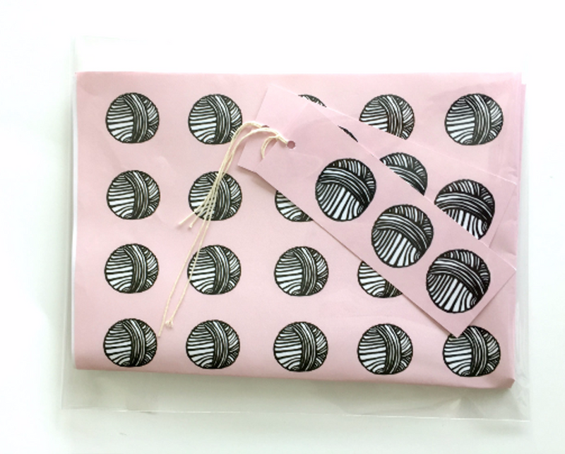Knitting Gift Wrap | Kelly Connor Designs