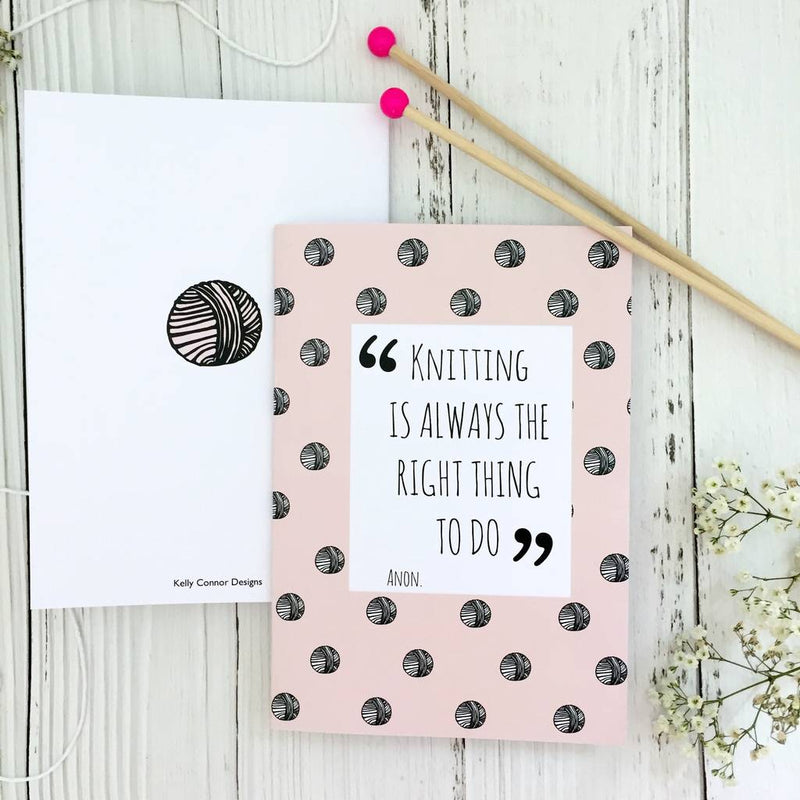 Knitting Notebook | Kelly Connor Designs