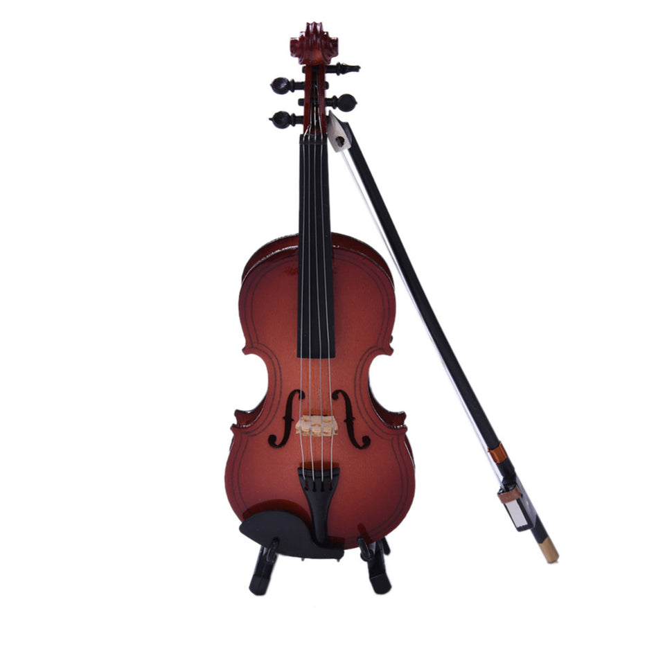 Mini Violin Miniature - Wooden Musical Instruments - Namaste Heart Space