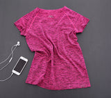 Breathable Fitness Running Sports T Shirt - Namaste Heart Space