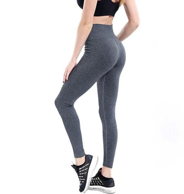 Women Yoga Pants High Elastic Fitness Sport Leggings Tights Slim Running Sportswear Sports Pants Quick Drying Training Trousers - Namaste Heart Space