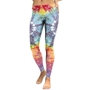 Mandala Flower Yoga Leggings