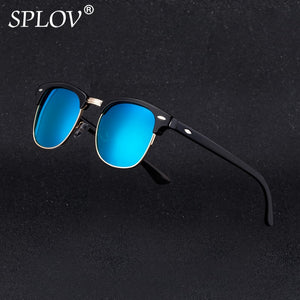 Semi Rimless Retro Sunglasses