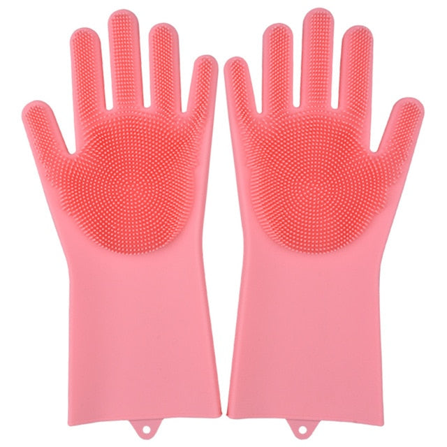 Magic Silicone Scrubber Gloves