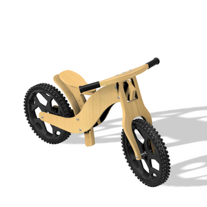 DIY Wood Balance Bike, Construction Plan, Drawing, Blueprint, CNC plan to make a kids balance bike yourself top 2