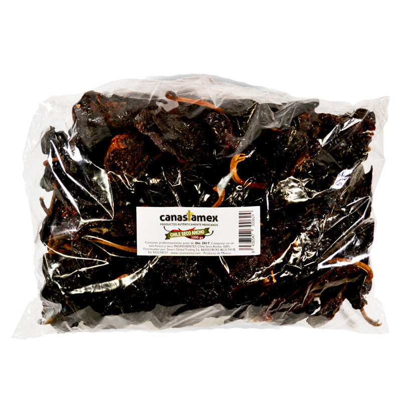CHILE SECO ANCHO 500g - CANASTAMEX