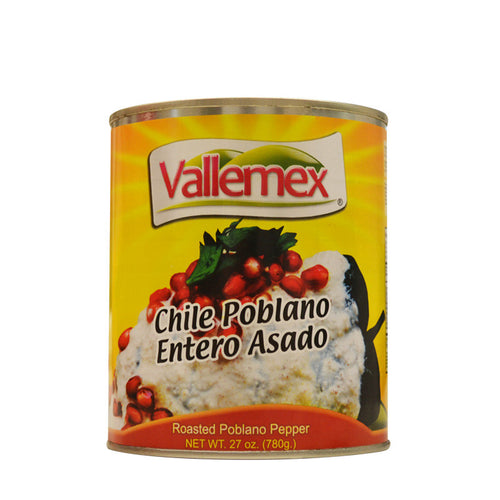 CHILE POBLANO ENTERO 780g - VALLEMEX