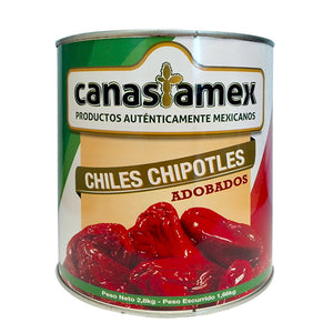 CHILE CHIPOTLE ADOBADO 2800g - CANASTAMEX